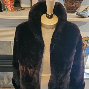 Vintage dyed lamb coat